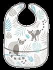 Obrazek Canpol babies śliniak zmywalny z kieszenią JUNGLE szary