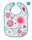 Obrazek Canpol babies śliniak zmywalny z kieszenią WILD NATURE różowy