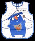 Obrazek Canpol babies fartuszek zmywalny miękki MONSTERS niebieski