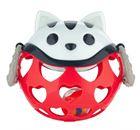 Obrazek Canpol babies interaktywna zabawka z grzechotką kot czerwony