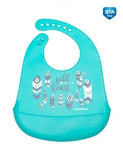 Obrazek Canpol babies śliniak silikonowy z kieszenią WILD NATURE
